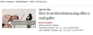 Email Etiquette Top 10