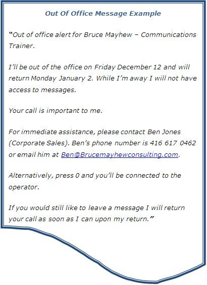 Business email away message samples - senrazardcapt34's soup