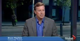 Bruce Speaking On Global TV
