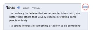 Bias Definition
