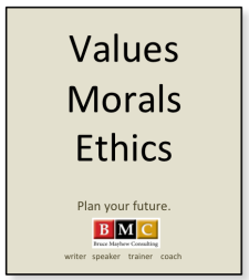 Values Morals Ethics