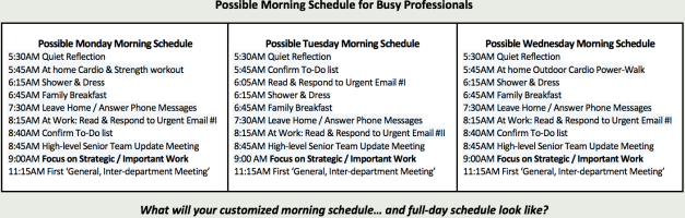 Time Management Morning Schedule for Professionals