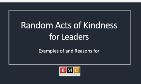 Ramdom Acts of Kindness for Leaders