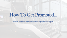 How To Get Promoted